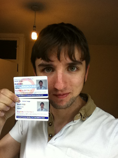 Me with my licence